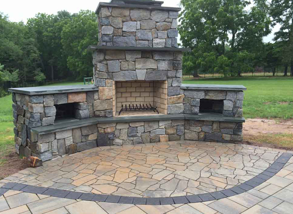 JJ Materials Outdoor Living Spaces Fireplaces