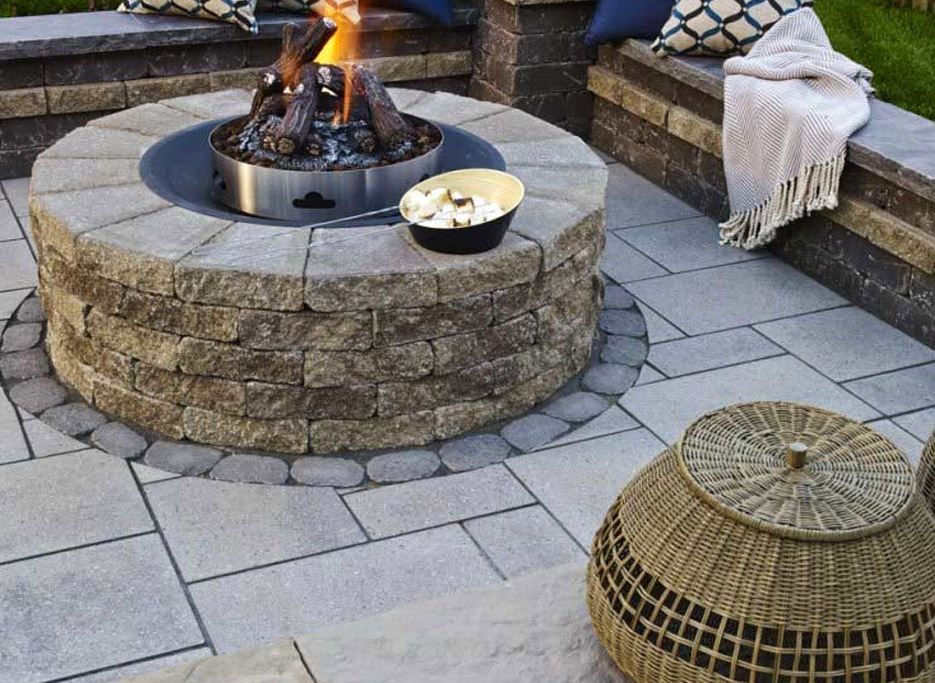 J&J Materials Outdoor Fire Put for Patio