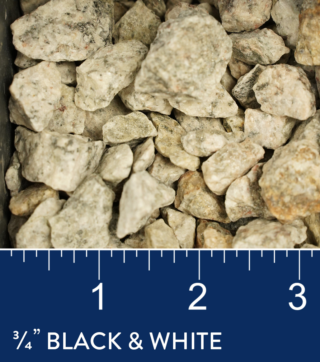 """3/4"""" Black & White available at J&J Materials"""