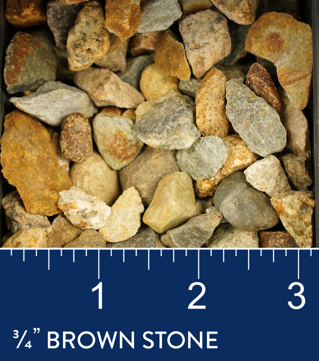 "3/4"" Brown Stone available at J&J Materials"