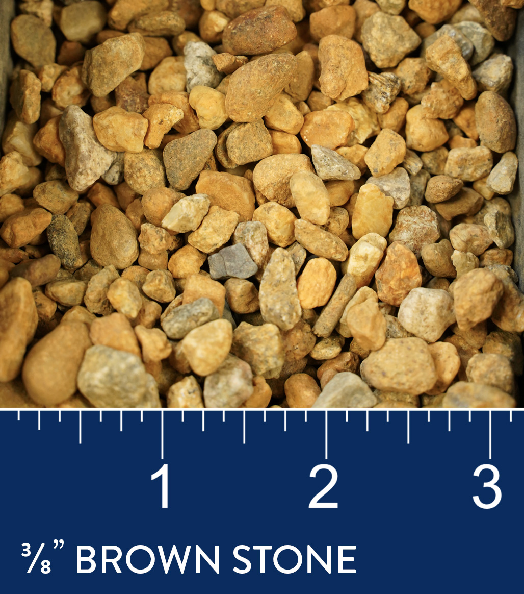 """3/8""""Brown Stone available at J&J Materials"""