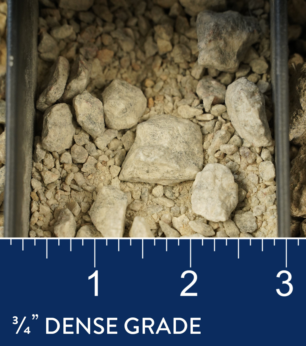 "3/4"" Dense Grade available at J&J Materials"