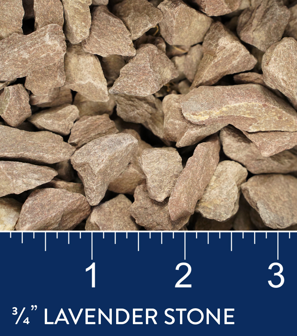 "3/4"" Lavender Stone available at J&J Materials"