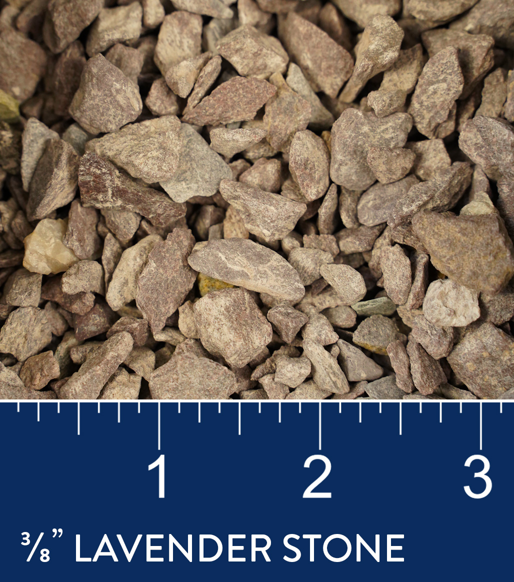 "3/8"" Lavender Stone available at J&J Materials"