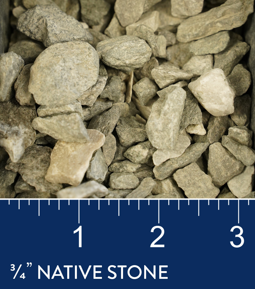 "3/4"" Native Stone available at J&J Materials"