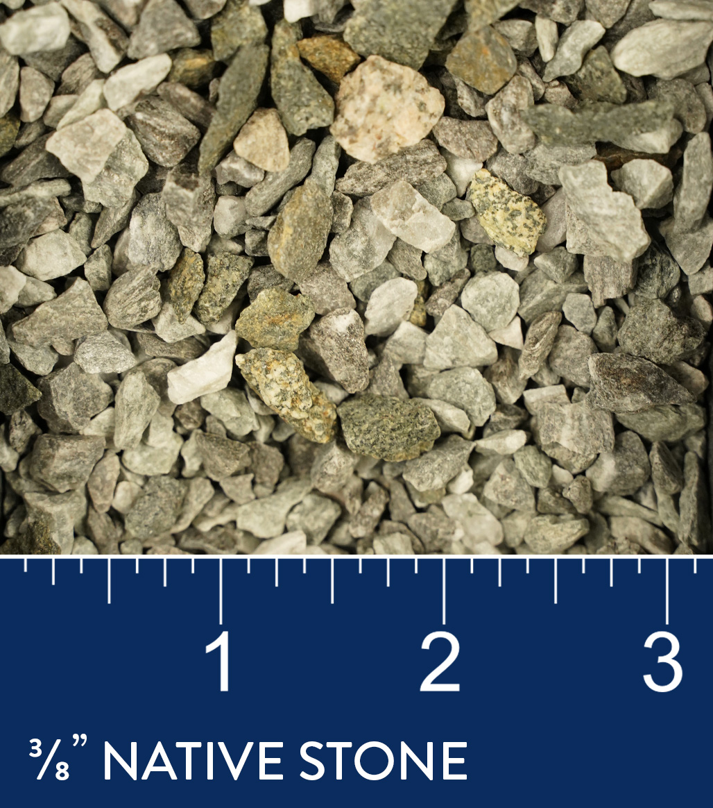 "3/8"" Native Stone available at J&J Materials"