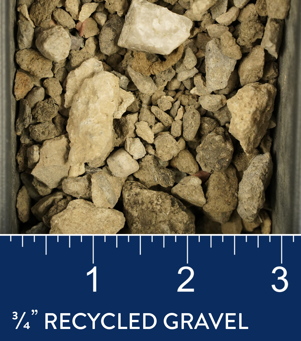 "3/4"" Recycled Gravel available at J&J Materials"