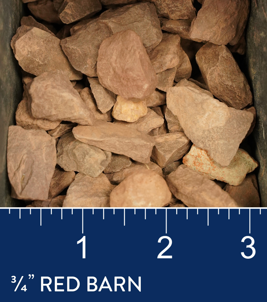 """3/4"""" Red Barn available at J&J Materials"""