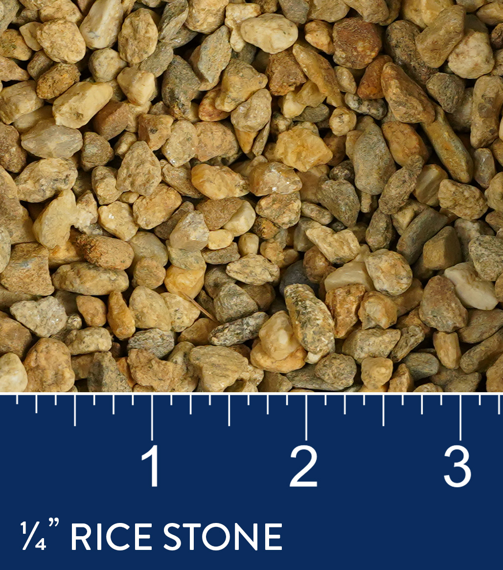 "1/4"" Rice Stone available at J&J Materials"