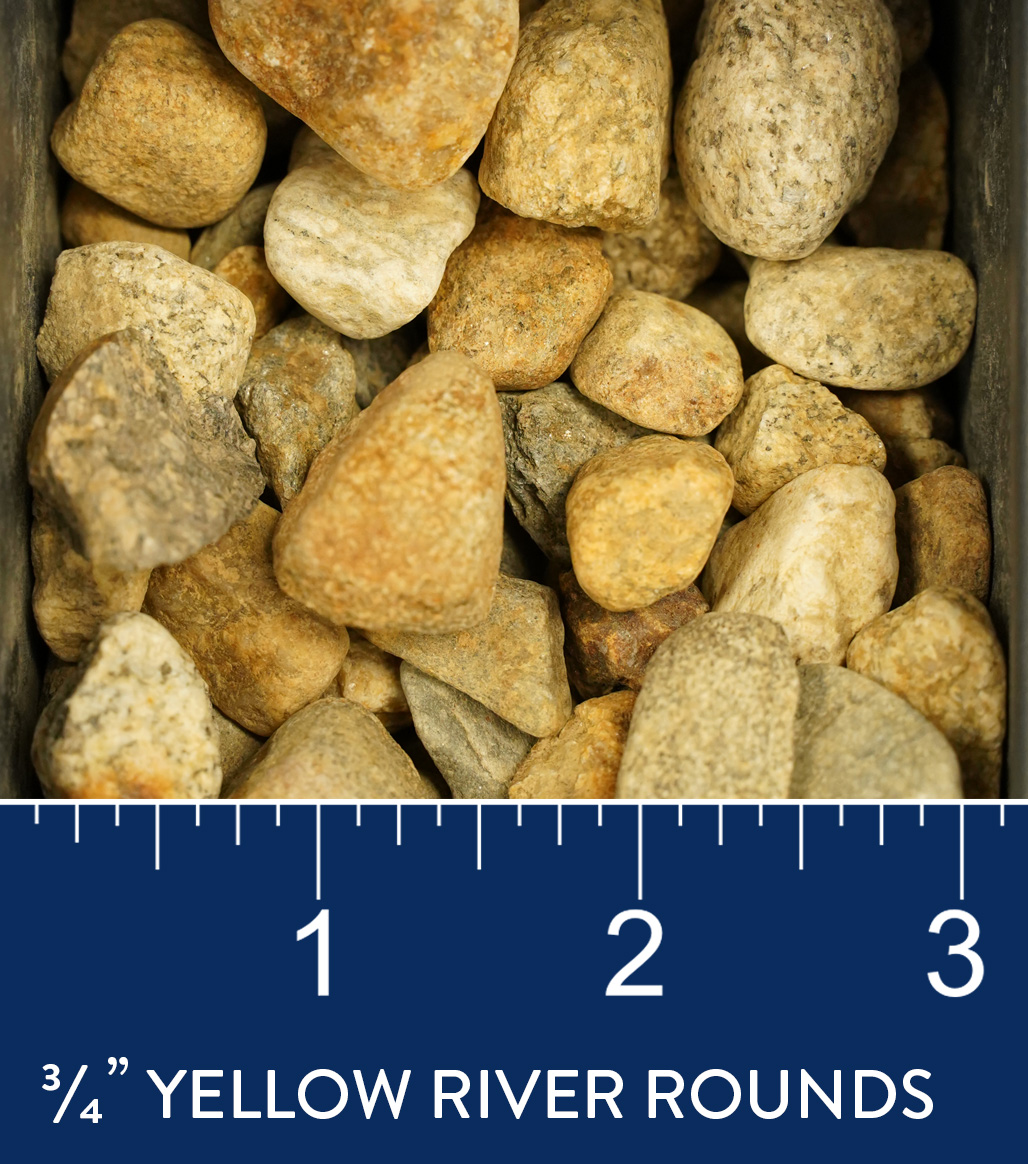"3/4"" Yellow River Rounds available at J&J Materials"